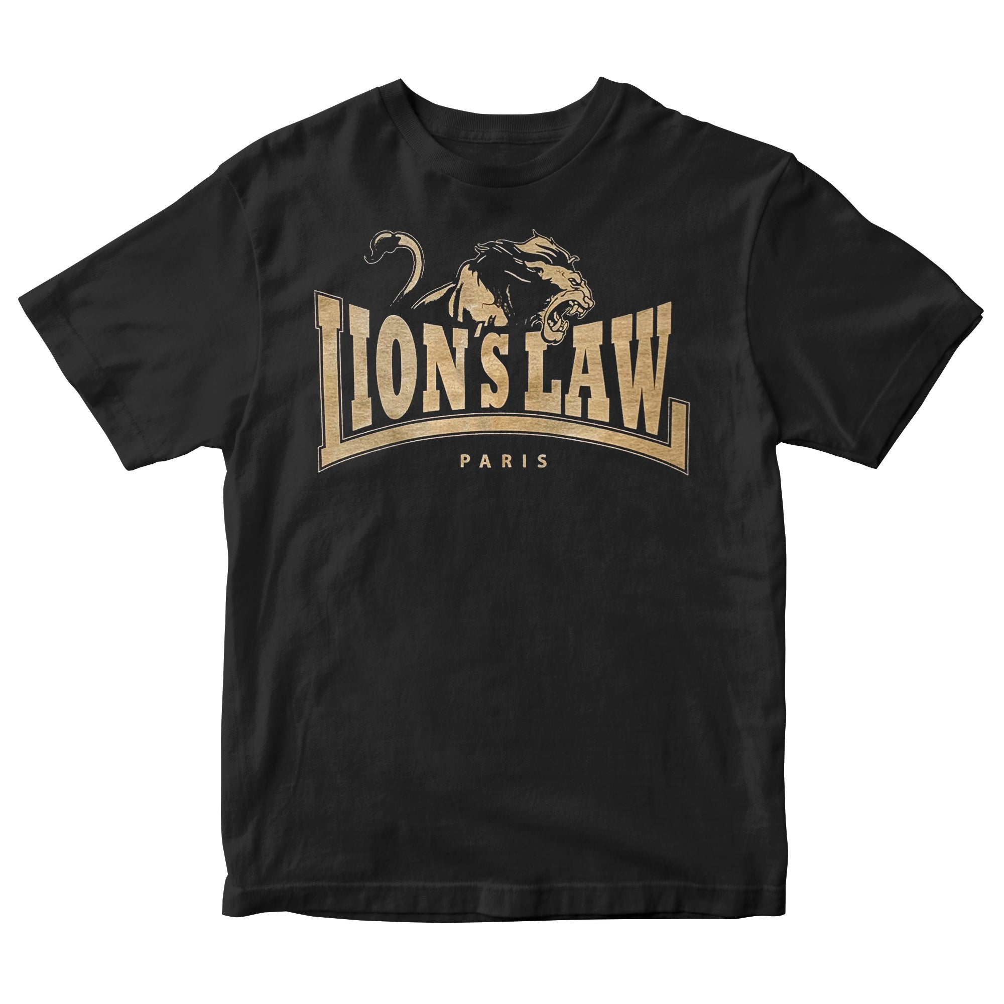 Lion's Law - Paris Logo - Black - T-Shirt