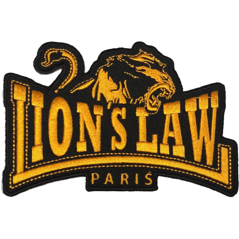 "Lion's Law - Paris Logo - Patch - Embroidered - 4.5"" x 3"""