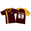 The Aggrolites - Aggropanther - Dirty Reggae 69 - Gold on Maroon - Soccer Jersey