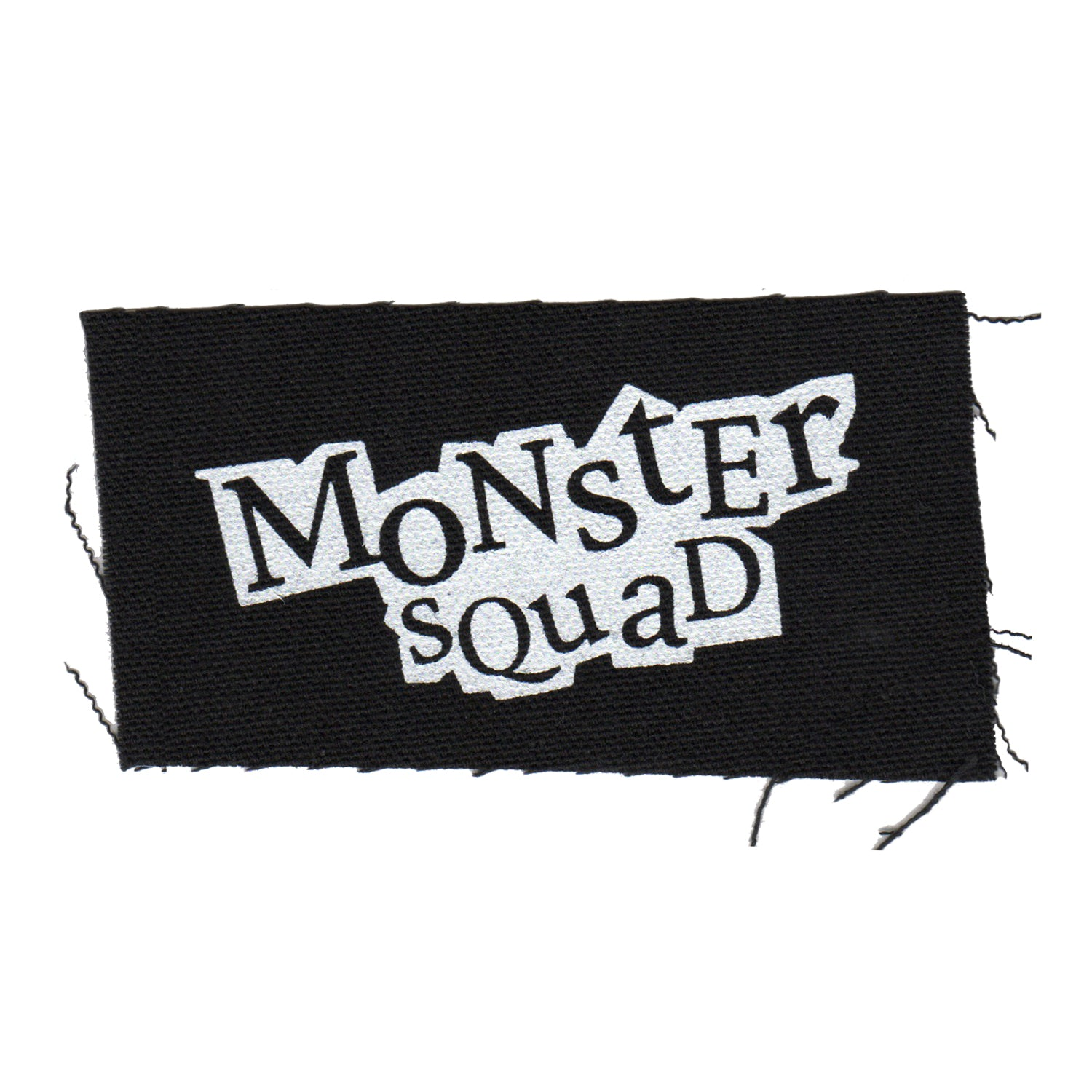 "Monster Squad - Logo - Black - Patch - Cloth - Screenprinted - 4"" x 2"""