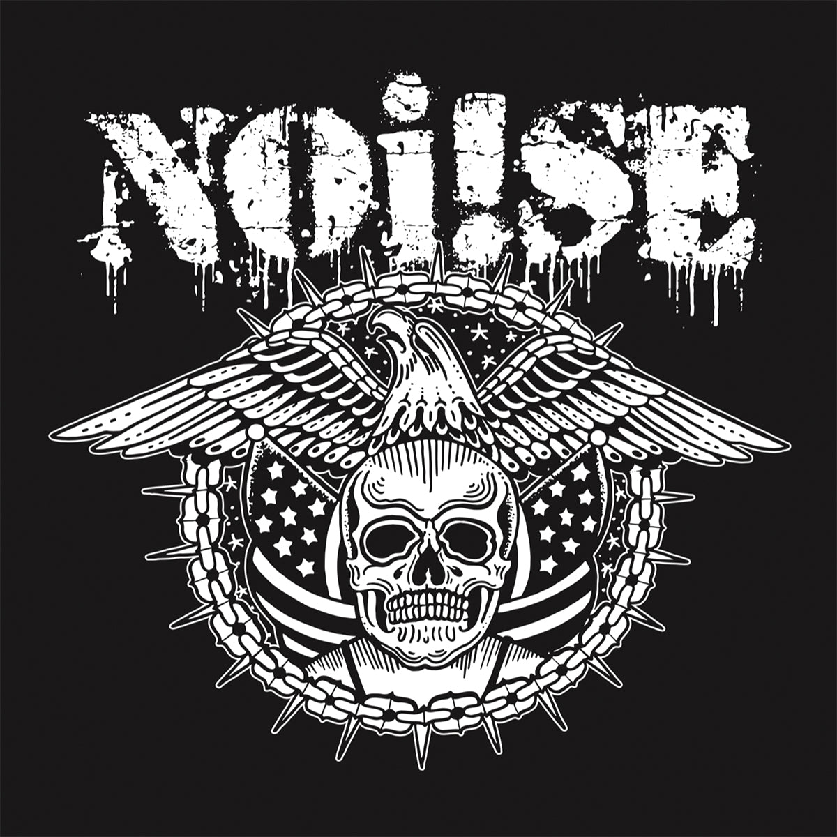 "NOi!SE - Skull Eagle - 4""x4"" Sticker"