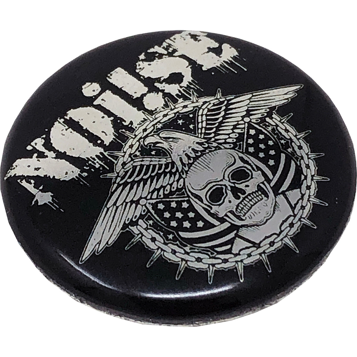 "NOi!SE - Skull Eagle Logo - 1"" Button"