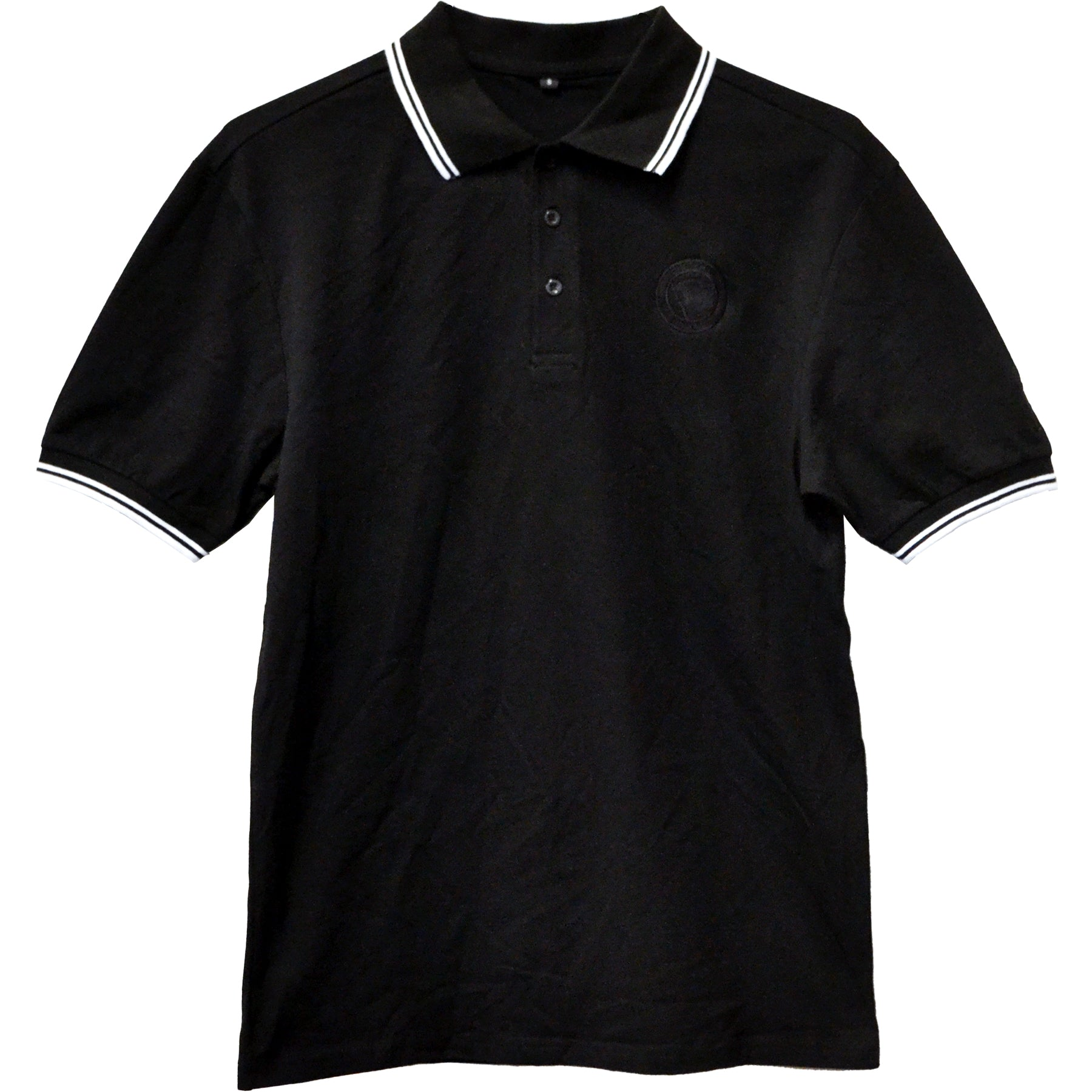 Pirates Press Records - One Family, One Flag - Black - Polo - Men's