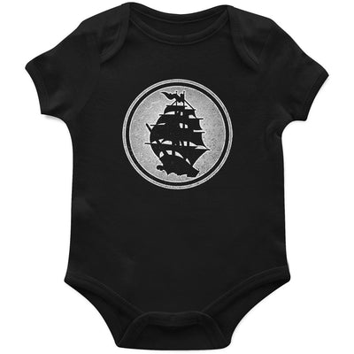 Pirates Press - Circle Logo - Black - Onesie