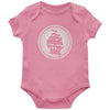 Pirates Press - Circle Logo - Pink - Onesie