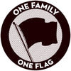"Pirates Press Records - One Family One Flag - 3"" Sticker"
