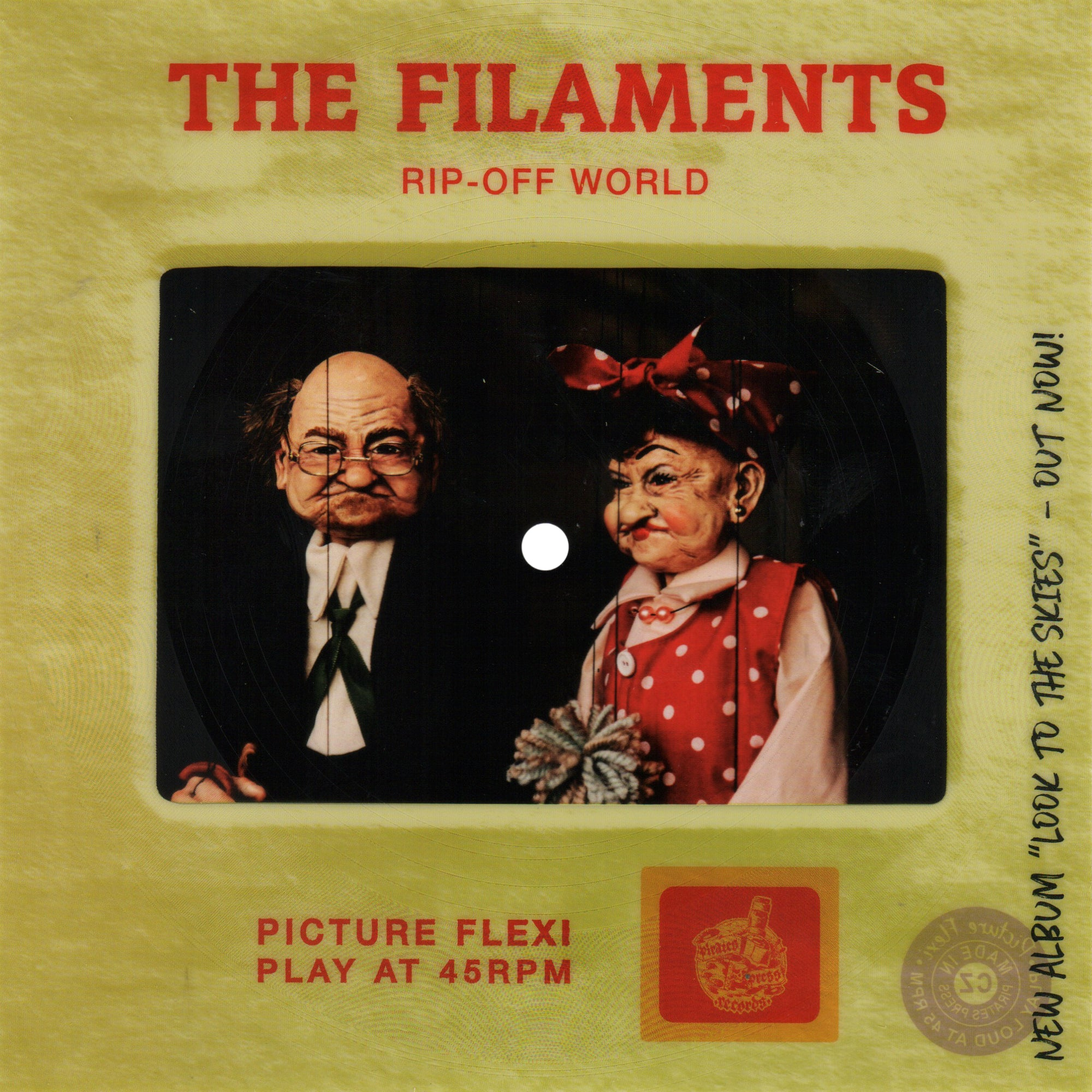 The Filaments - Rip Off World Picture Slide Flexi