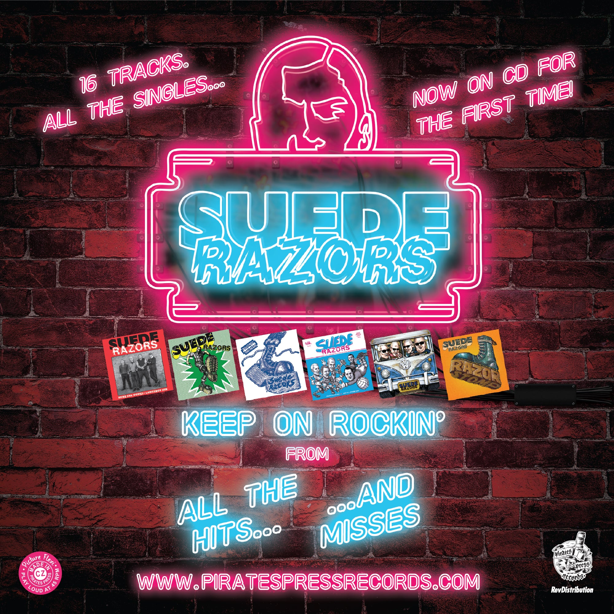 Suede Razors - Keep on Rockin Flexi