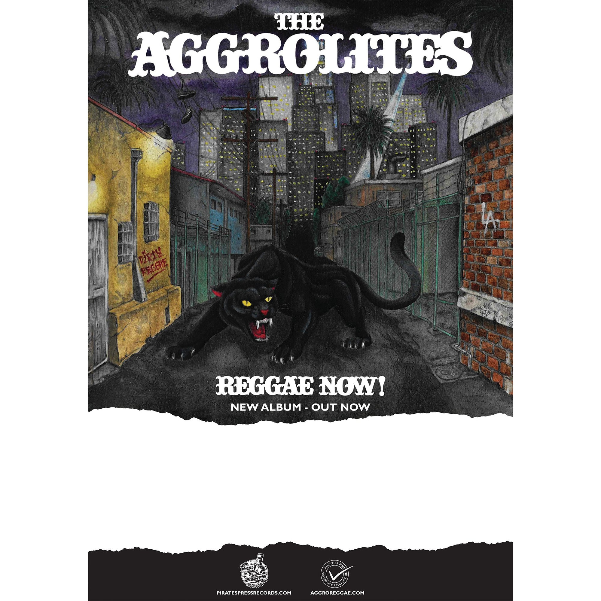 The Aggrolites - Reggae Now! - Album - Poster - Folded