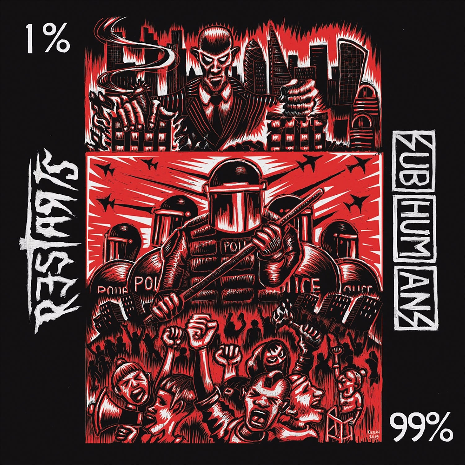 Subhumans/The Restarts split 7""