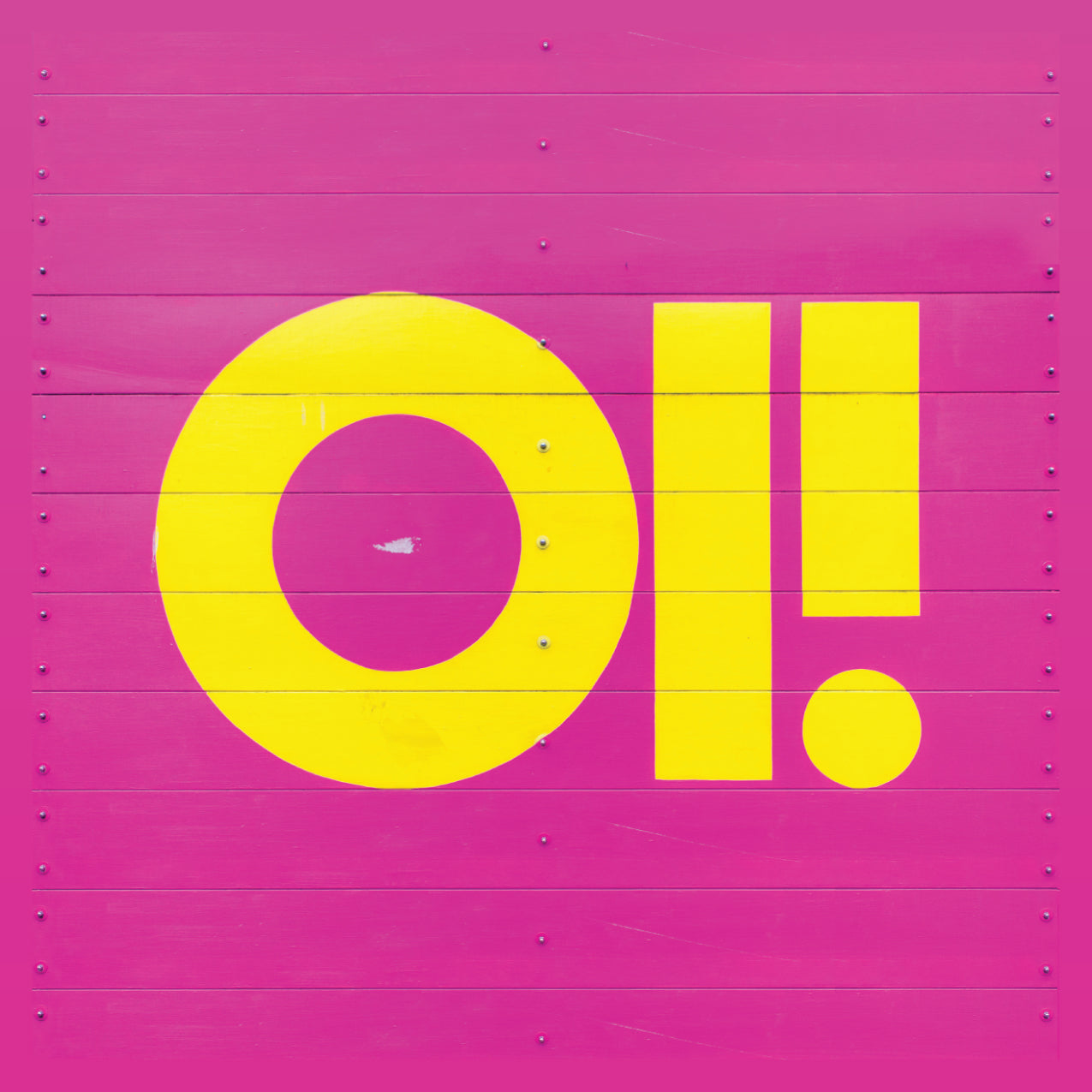 "Oi! - 4"" Square Vinyl Sticker"