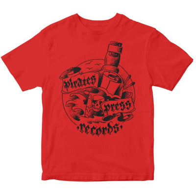 Pirates Press Records - Bottle - Red on Black - T-Shirt