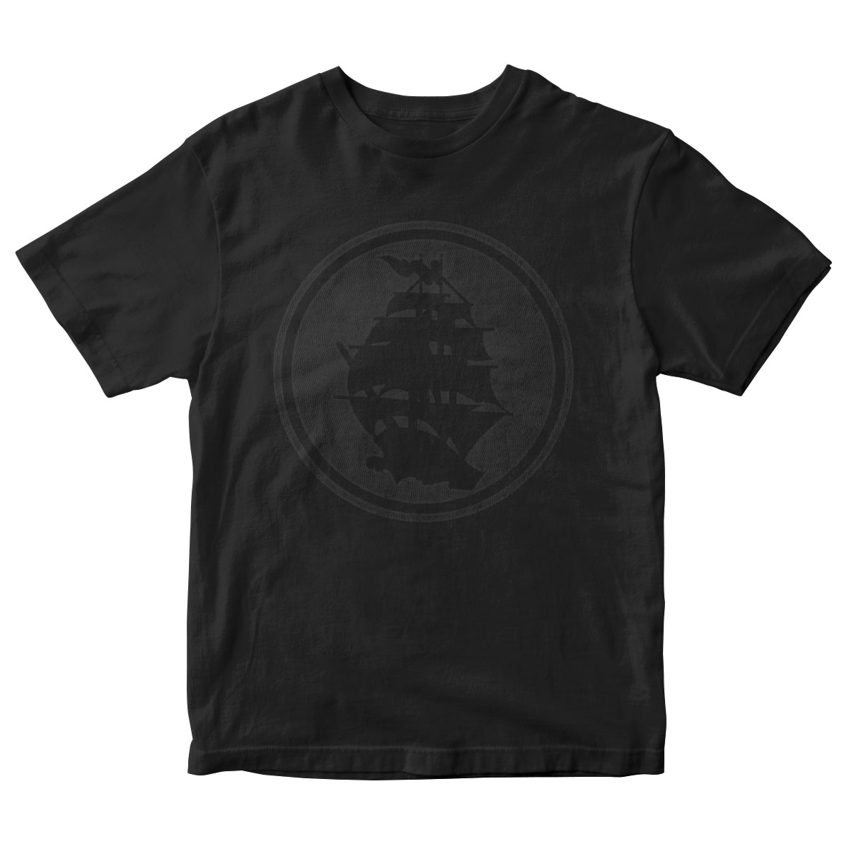 Pirates Press - Circle Logo - Black on Black - T-Shirt