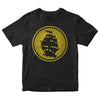 Pirates Press - Circle Logo - Gold on Black - T-Shirt