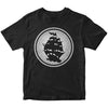 Pirates Press - Circle Logo - Navy On Grey - T-Shirt