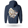 Pirates Press - Full Color Tattoo Ship - Zip-Up Hoodie