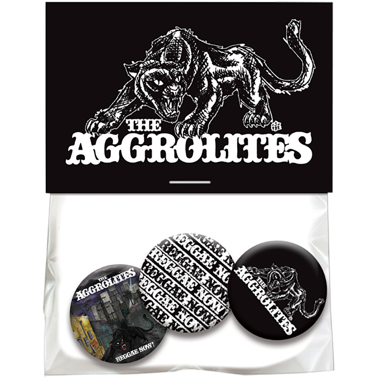 The Aggrolites - 3 Button Pack in Bag w/ Hang Card