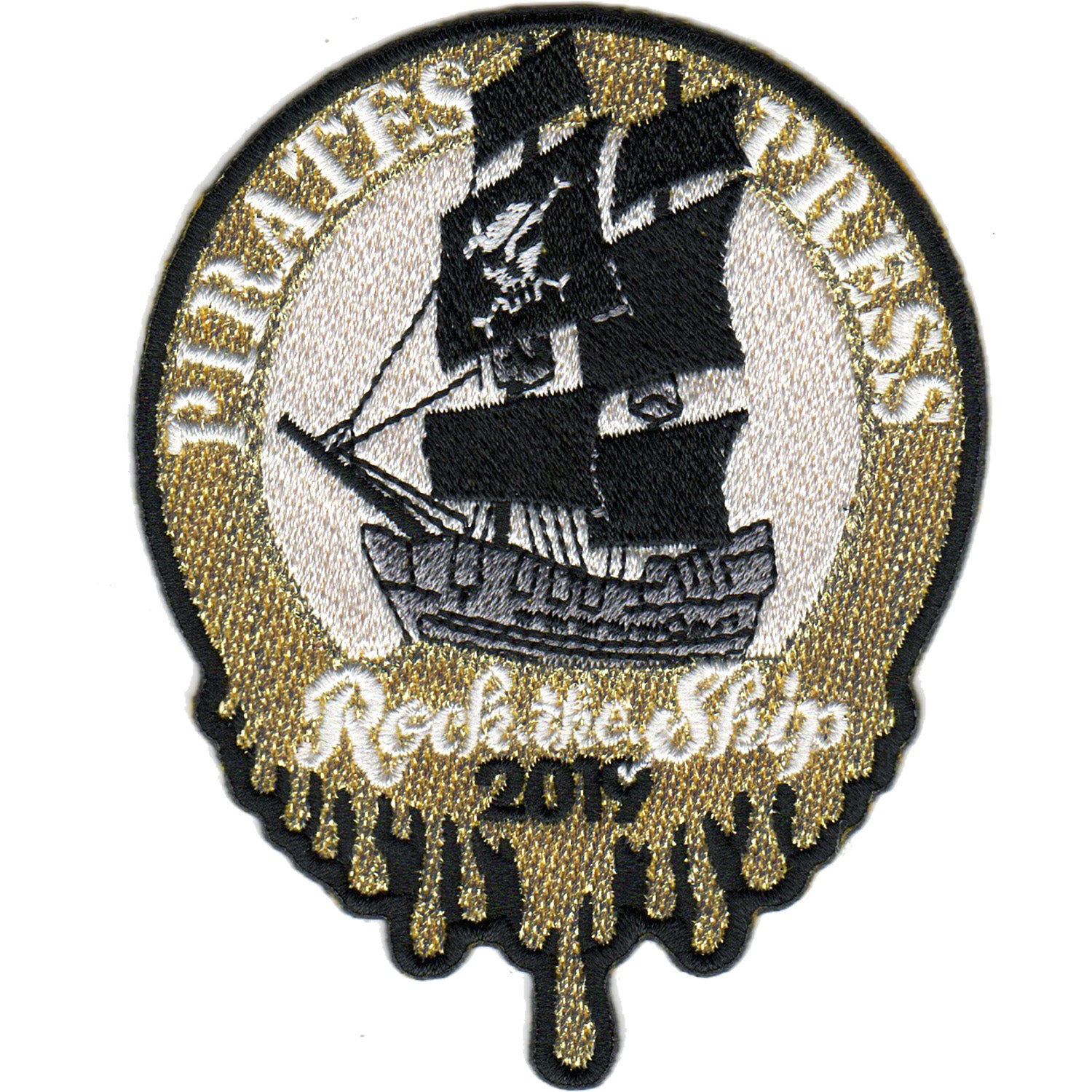 Pirates Press 15th Anniversary - Rock The Ship Ring - Patch - Embroidered - 3""