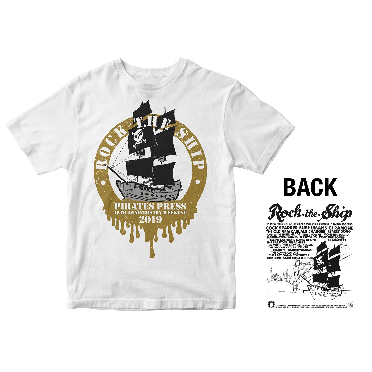 Pirates Press 15th Anniversary - Rock The Ship Ring - White - T-Shirt