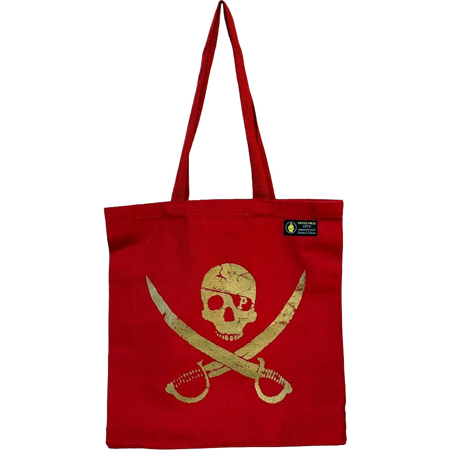Pirates Press - Pirate Logo - Canvas Shopper - Red