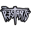 "The Restarts - Logo - White on Black - 1.5"" Enamel Pin"