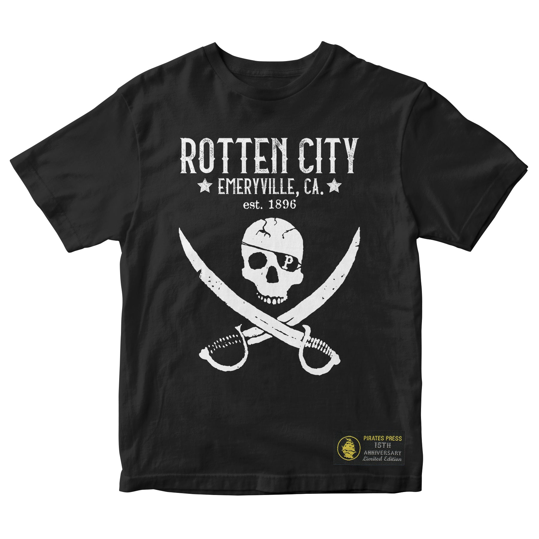 Pirates Press - Rotten City - Black - 15 Year Tag - T-Shirt