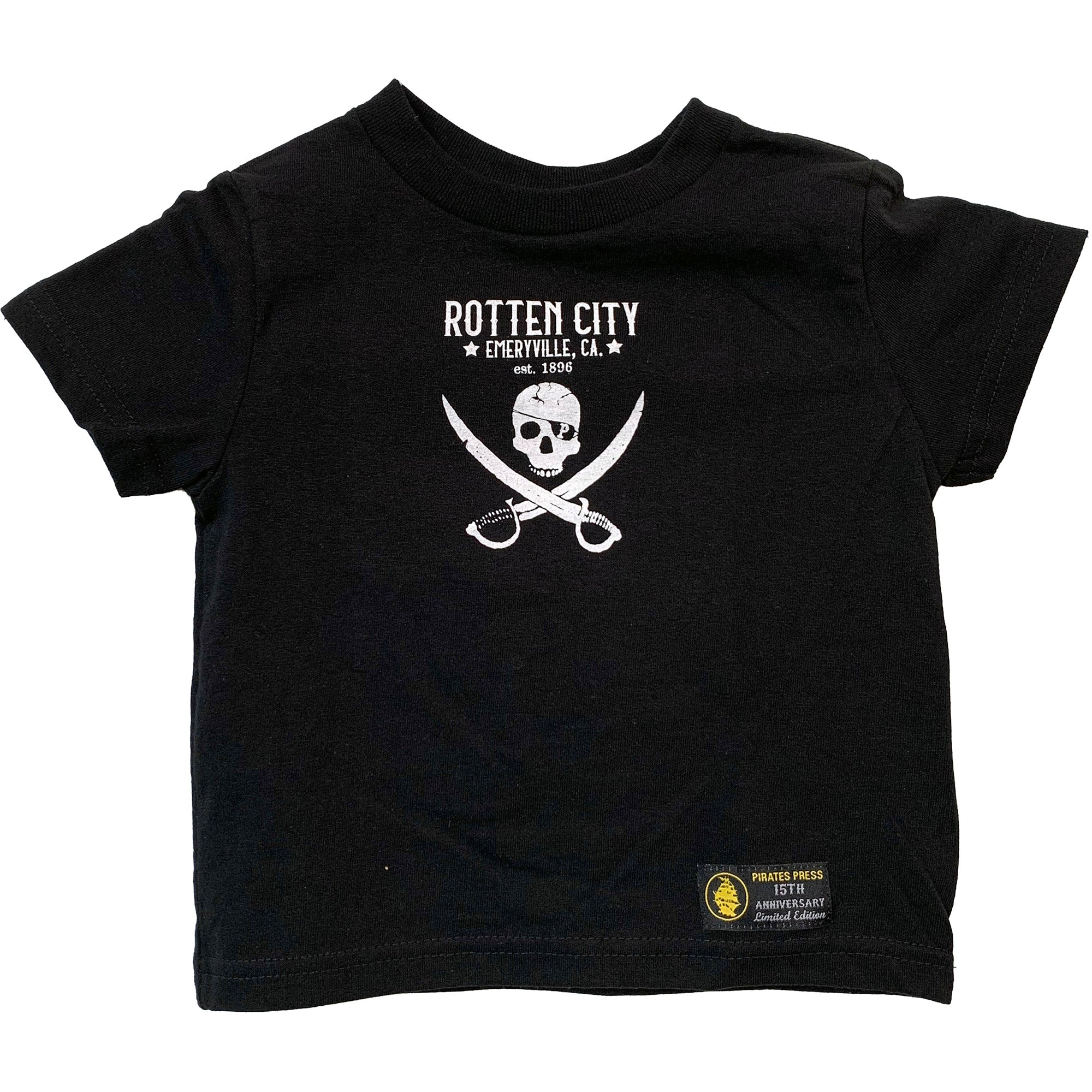 Pirates Press - Rotten City - Black - 15 Year Tag - T-Shirt - Toddler