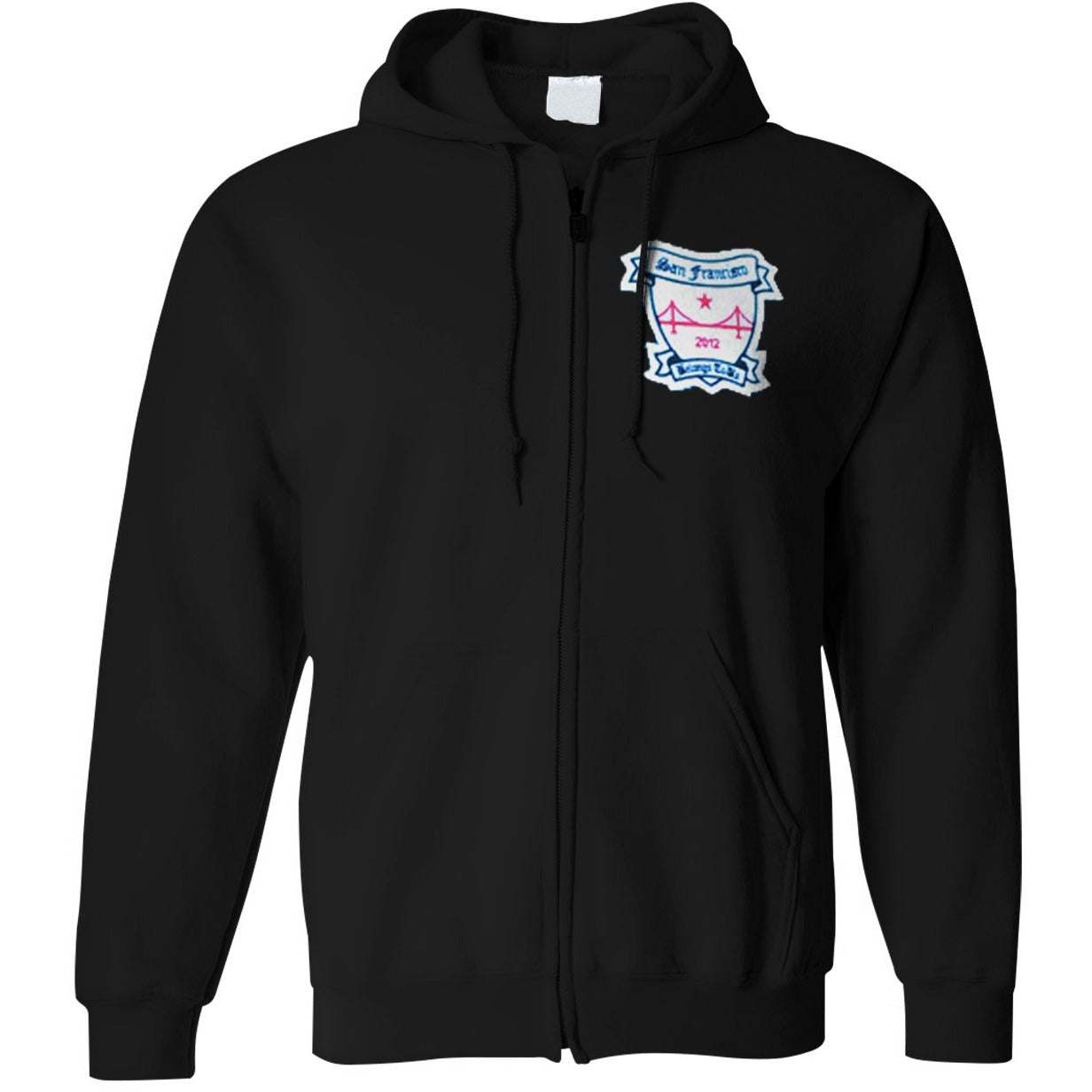 Pirates Press Records - SF Belongs to Us - Patch - Zip-Up Hoodie