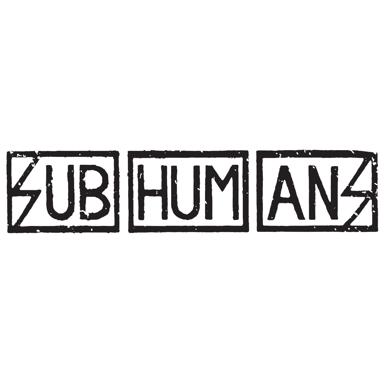 Subhumans - Text Logo - Vinyl Sticker