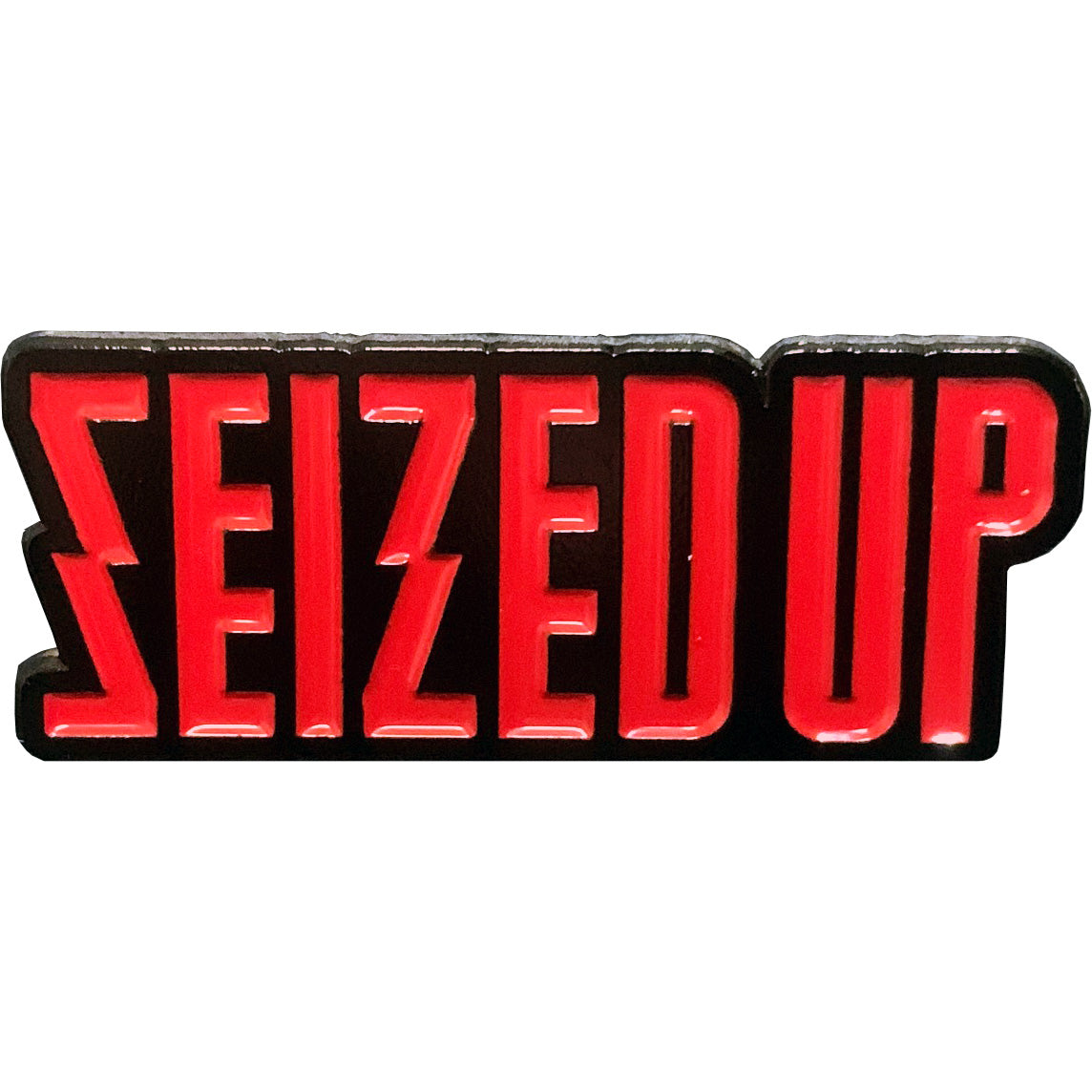 Seized Up - Logo - Enamel Pin - 1.5""