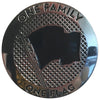 "Pirates Press Records - One Family. One Flag - 1"" Enamel Pin"