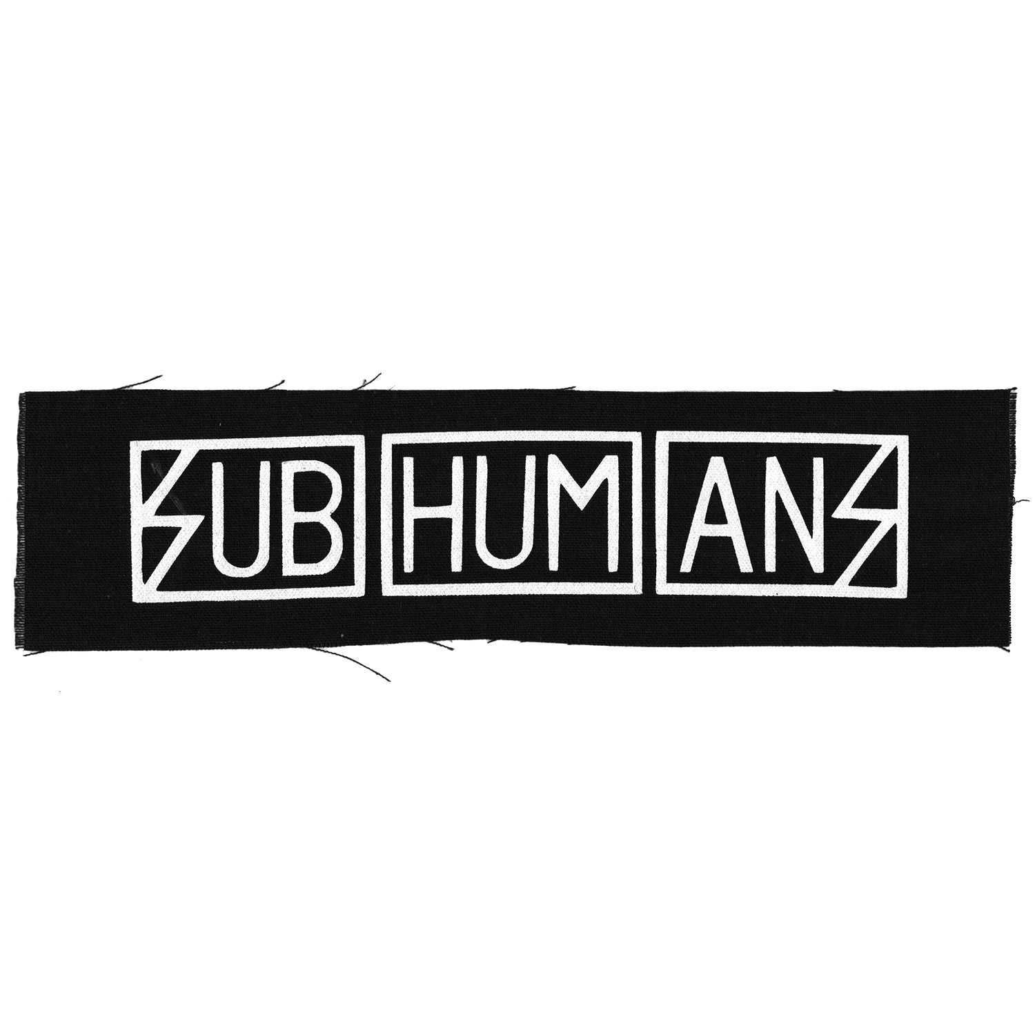 Subhumans - Text Logo - Black - Patch - Cloth - Screenprinted