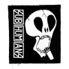 Subhumans - Large Skull & Vertical Logo - Black - Back Patch