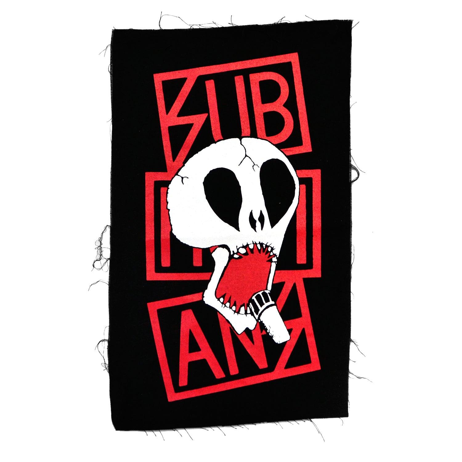 Subhumans - Skull & Red Logo - Black - Back Patch