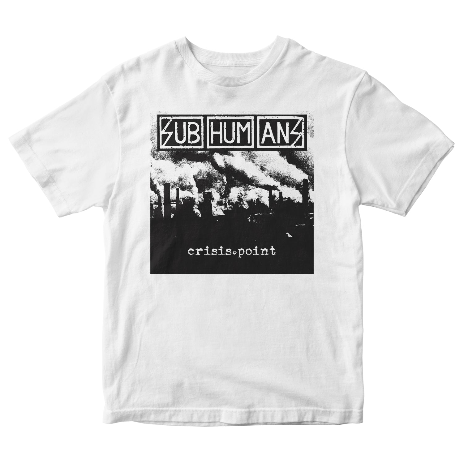 Subhumans - Album Cover - White - T-shirt