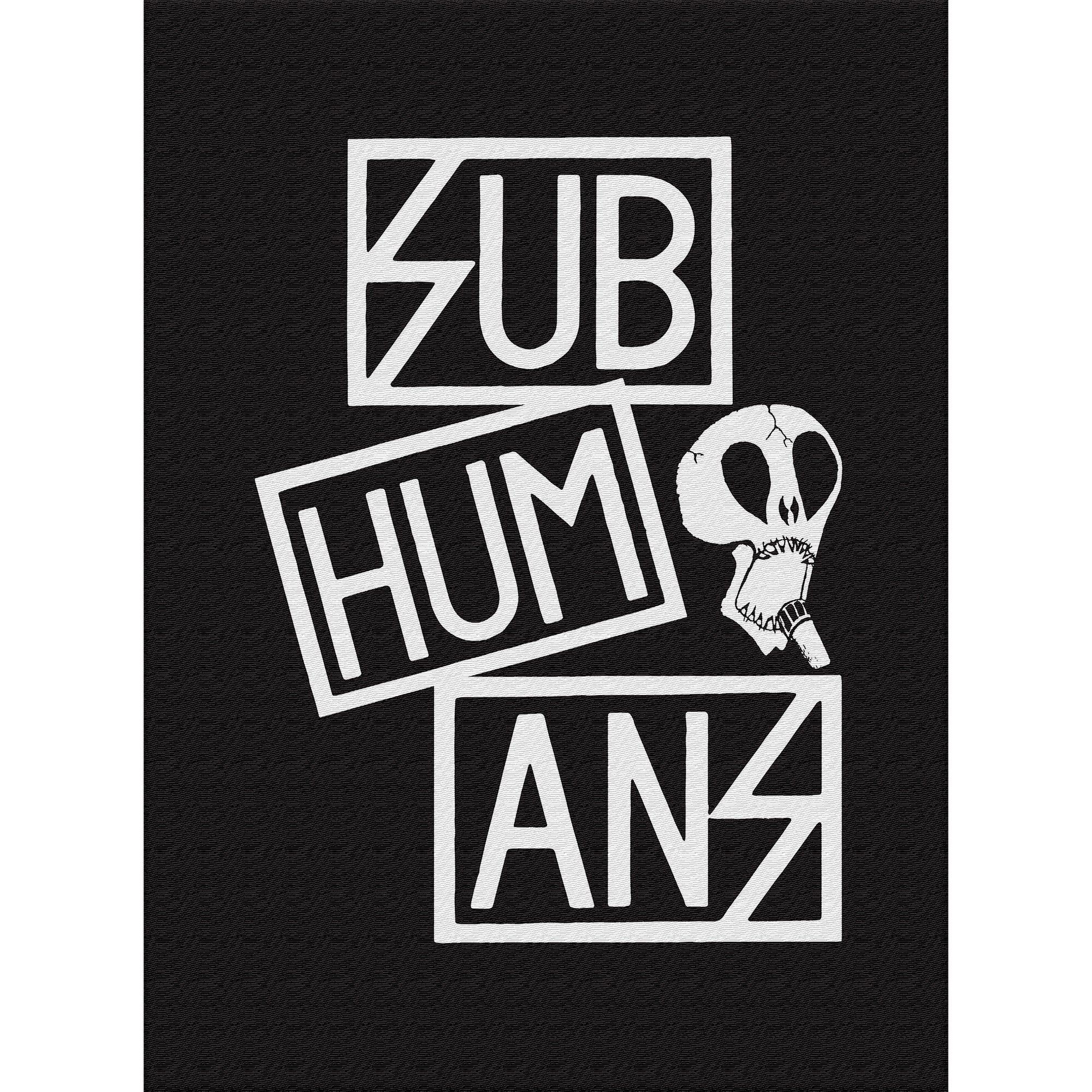Subhumans - Small Skull & Three Part Logo - Black - Back Patch