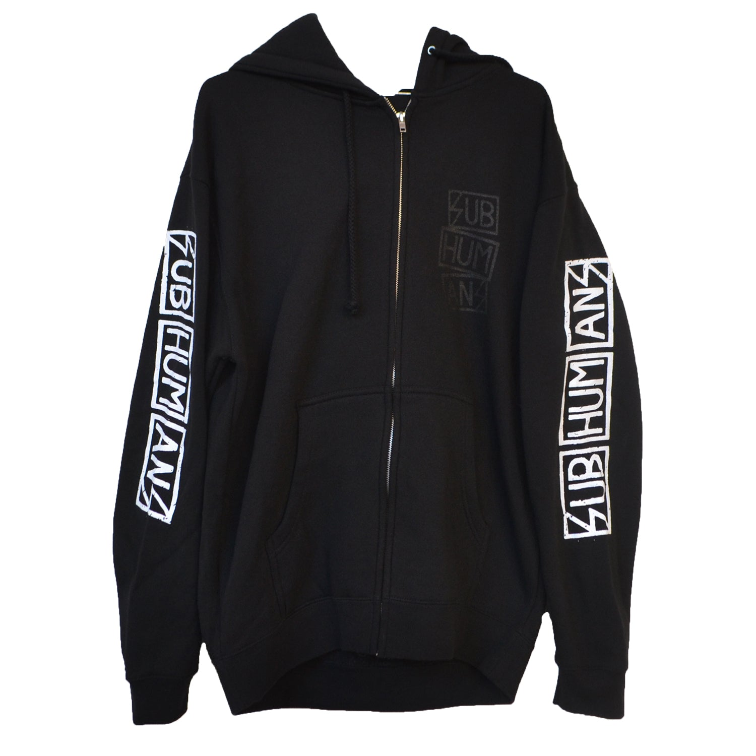 Subhumans - Skull Logo - Black - Zip-Up Hoodie