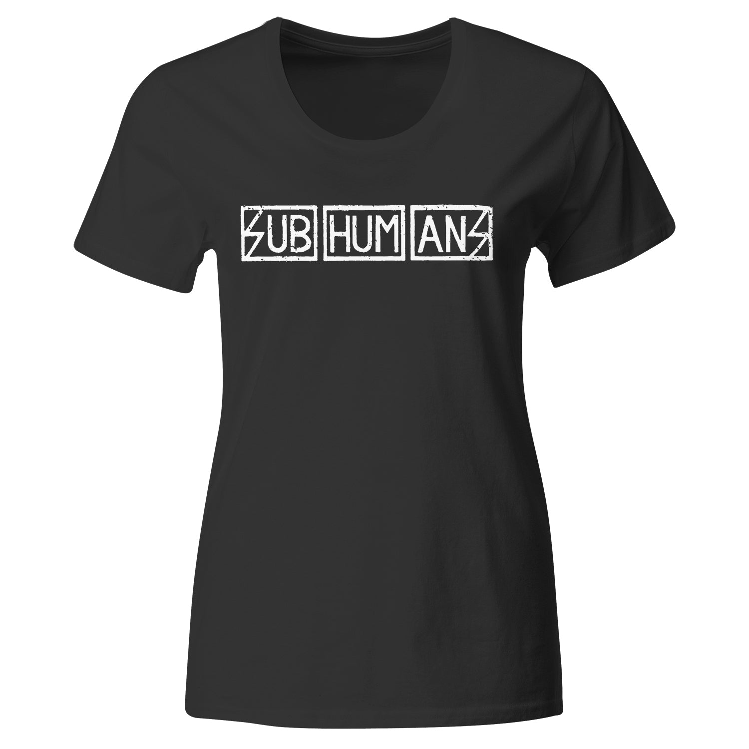 Subhumans - Horizontal Logo - Black - T-shirt - Fitted