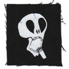 "The Subhumans - Skull - Black - Patch - Cloth - Screenprinted - 4"" x 4"""