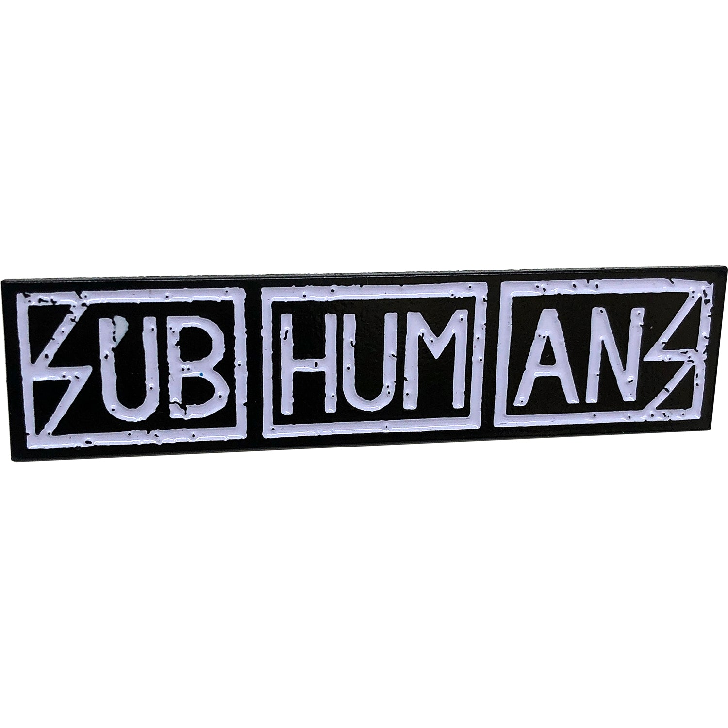 "Subhumans - Text Logo - 2.5"" Enamel Pin"