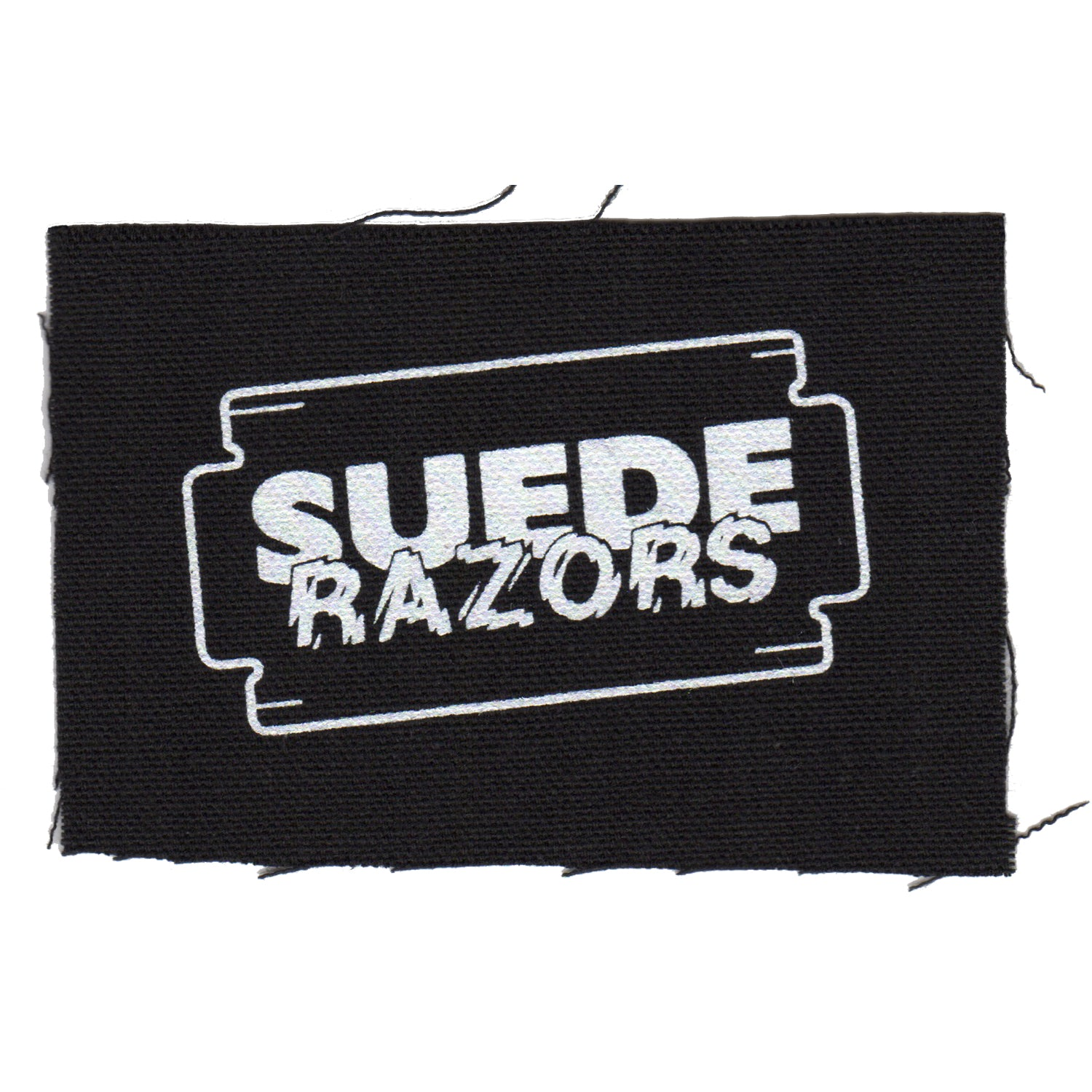 "Suede Razors - Logo - Black - Patch - Cloth - Screenprinted - 4"" x 4"""