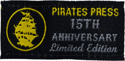 Pirates Press - Circle Logo - Gold on Purple - 15 Year Tag - T-Shirt