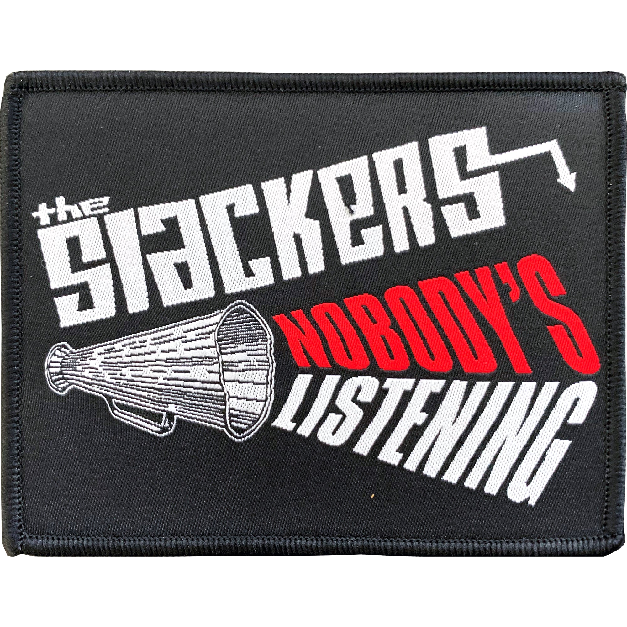 "The Slackers - Nobody's Listening - Patch - Woven - 3"" x 4"""