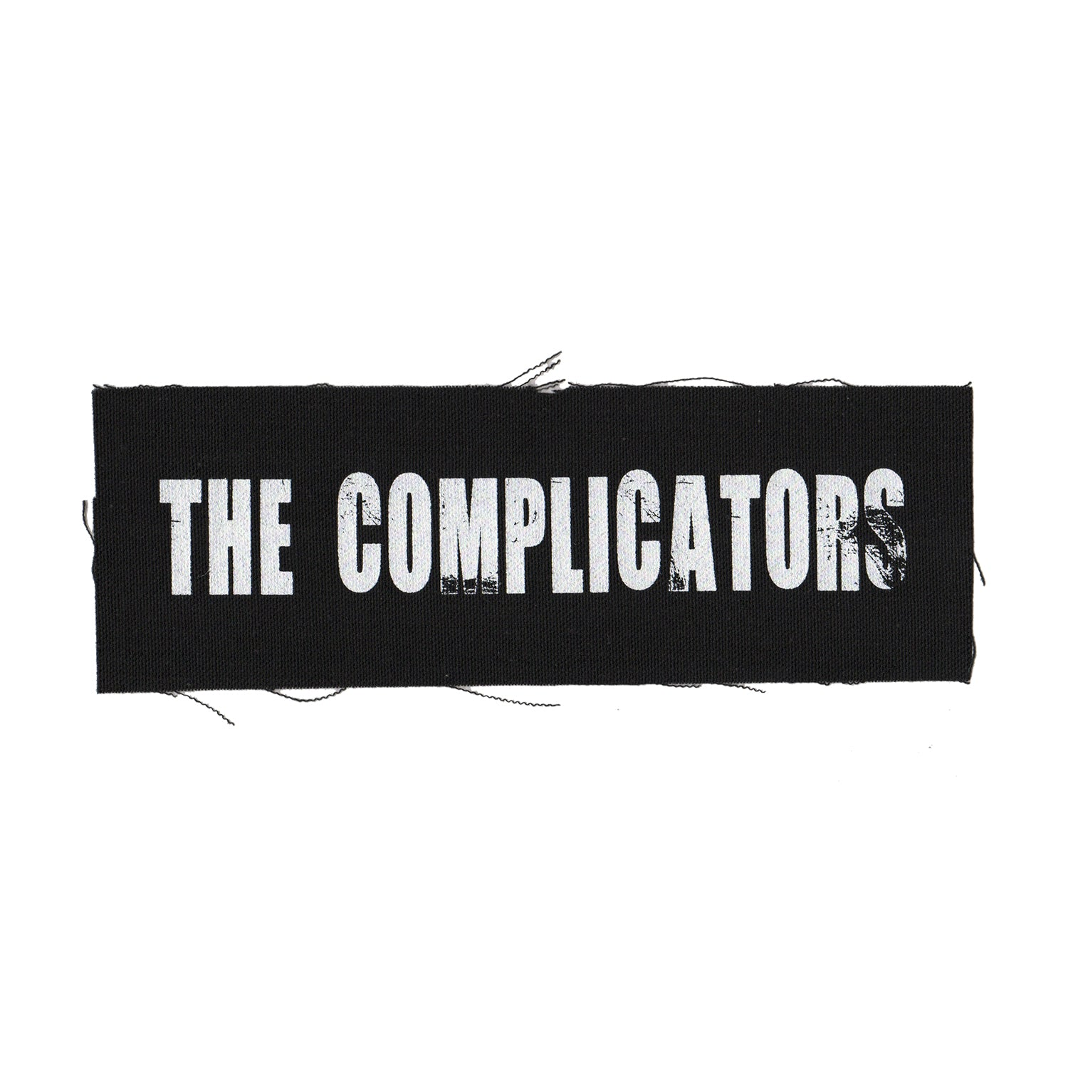 "The Complicators - Text Logo - Black - Patch - Cloth - Screenprinted - 8"" x 3"""
