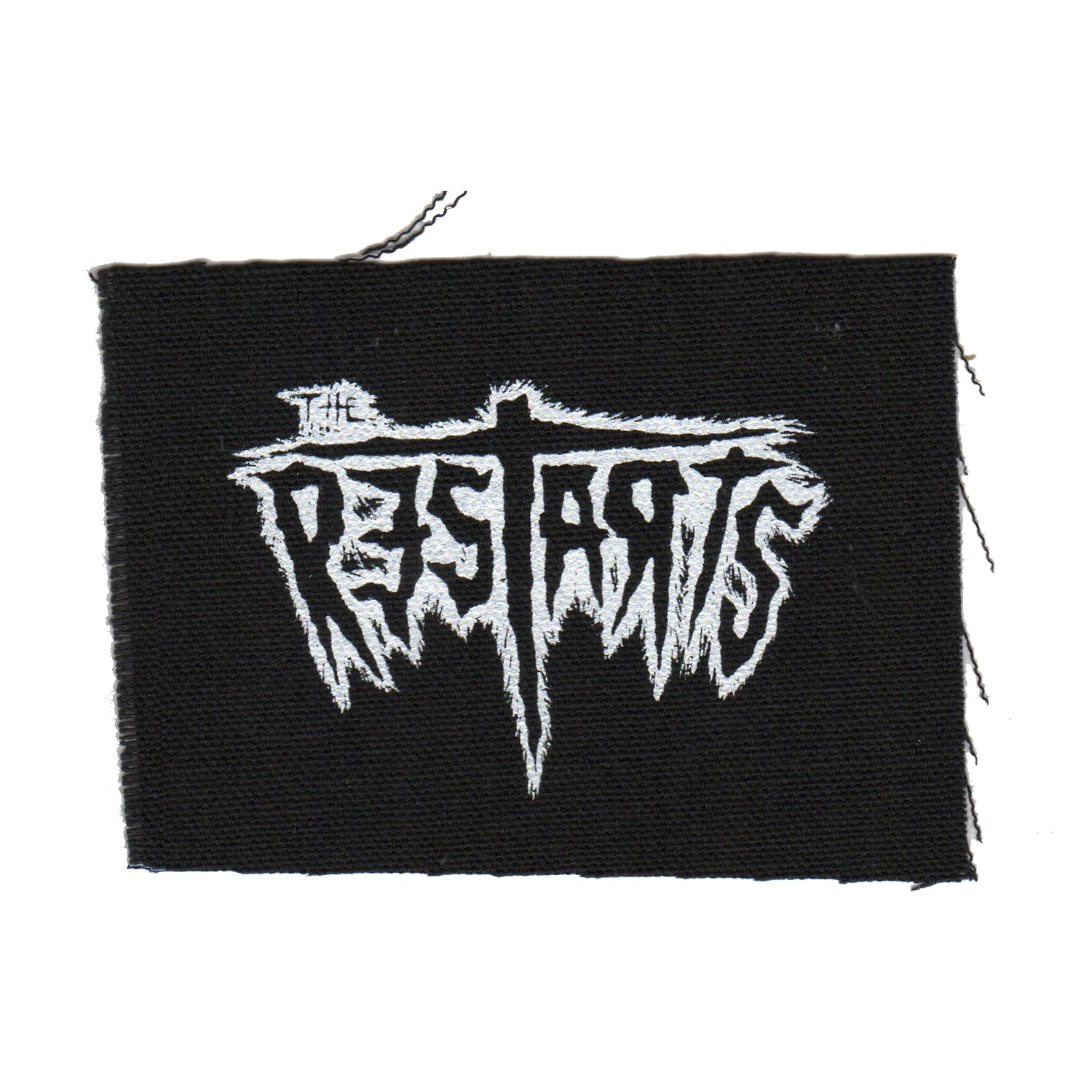 "The Restarts - Logo - Black - Patch - Cloth - Screenprinted - 4"" x 3"""