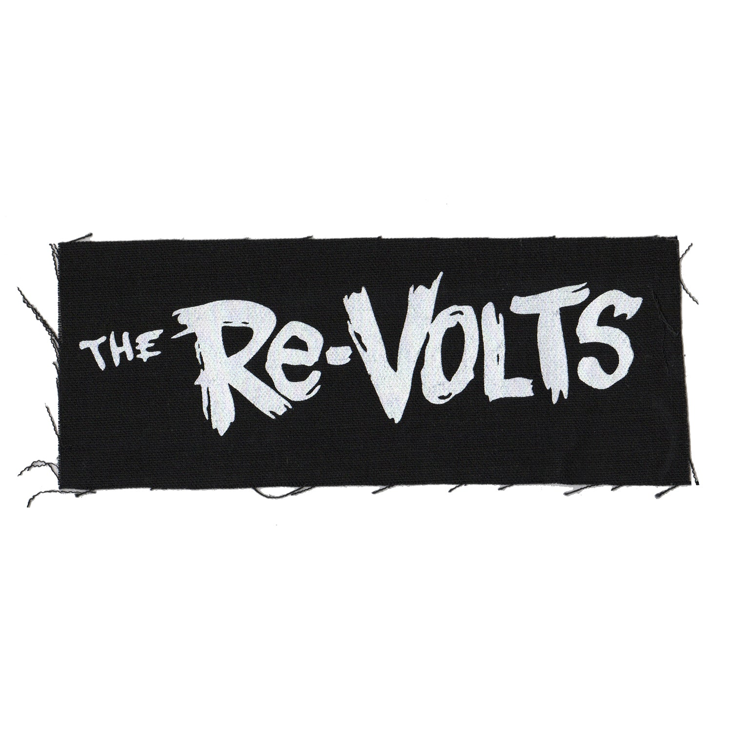 "The Re-Volts - Text Logo - Black - Patch - Cloth - Screenprinted - 8"" x 3"""