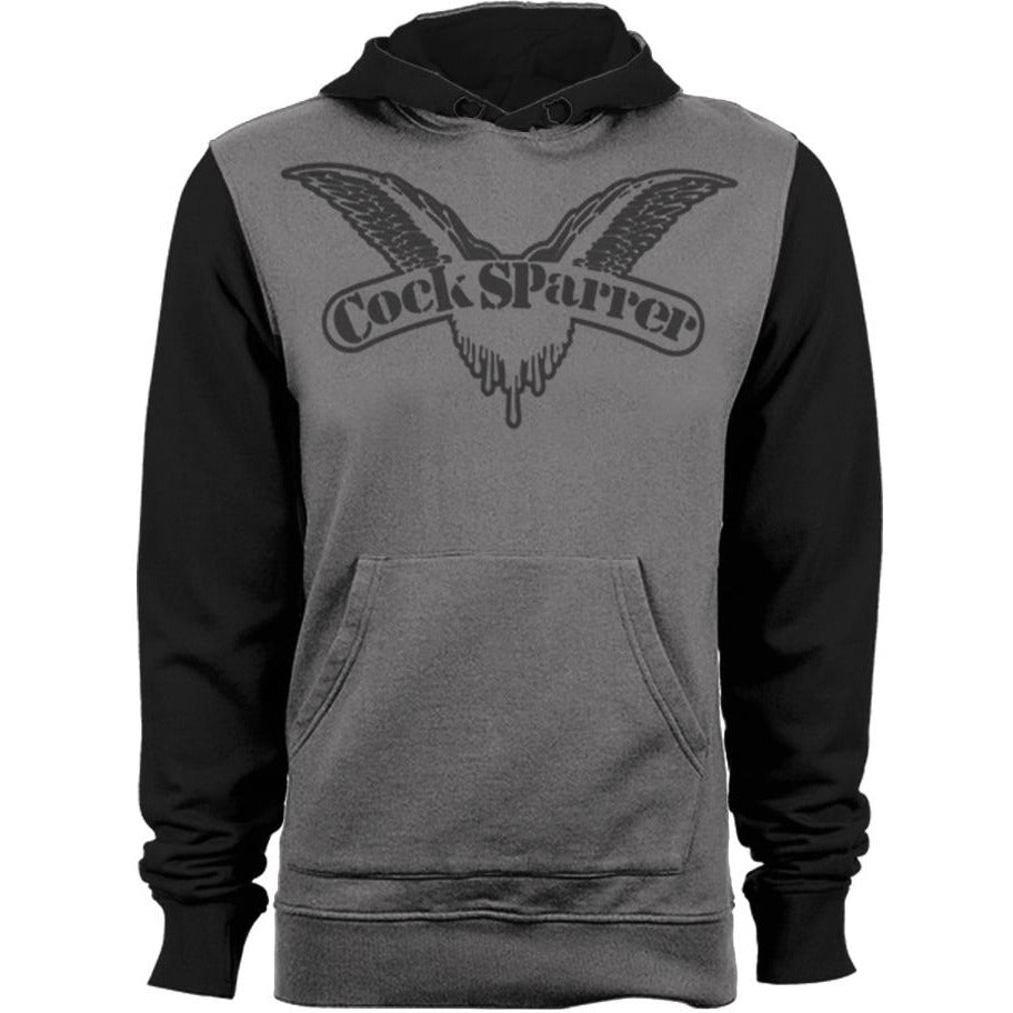 Cock Sparrer- Wings - Pullover Hoodie - Grey and Black