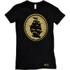 Pirates Press - Circle Logo - Gold on Black - 15 Year Tag - T-Shirt - Fitted