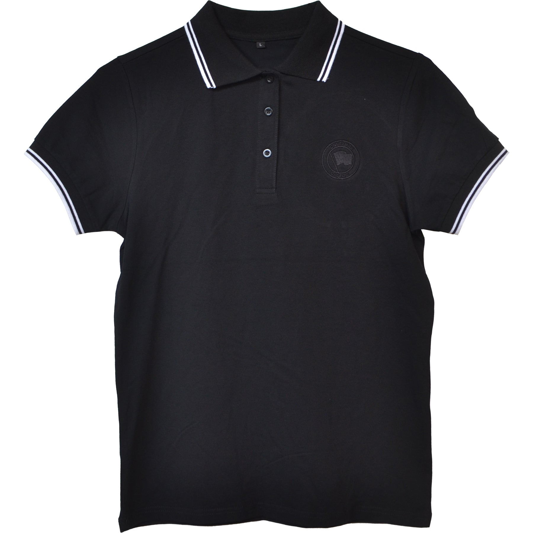 Pirates Press Records - One Family, One Flag - Black - Polo - Women's