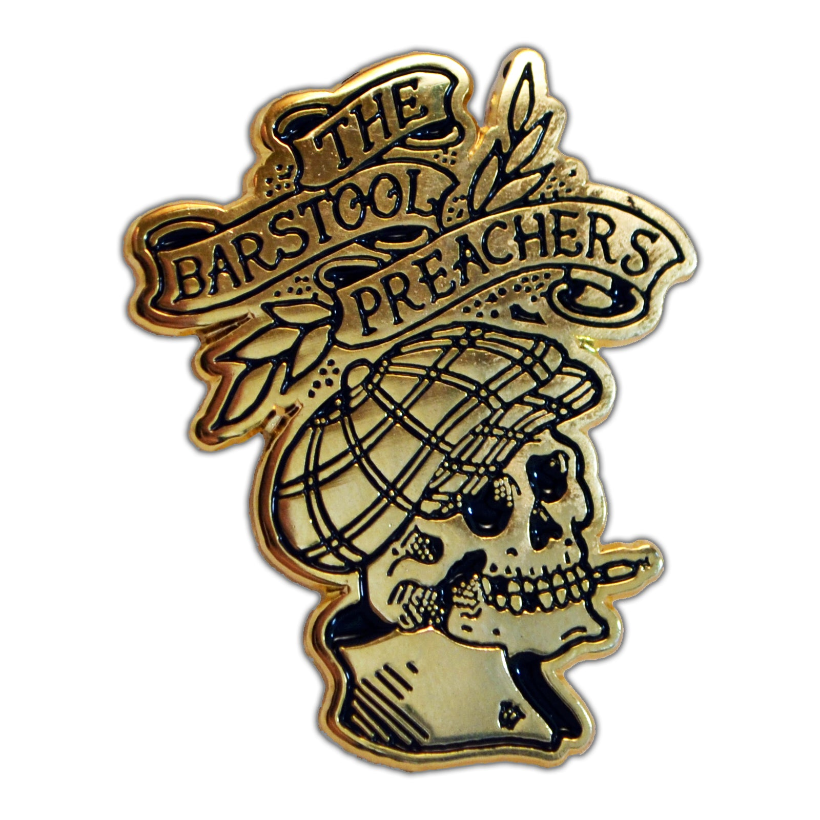 "The Bar Stool Preachers - Skull Logo - 1.5"" Enamel Pin"